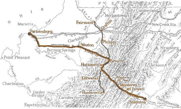 Staunton_Parkersburg map